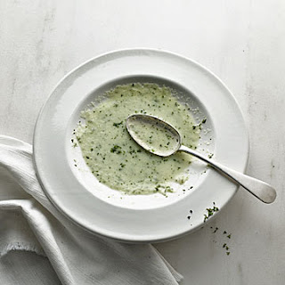 Chilled Cucumber Soup with Mint Leaves