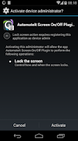 Screenshot of AutomateIt Screen On-Off&Lock