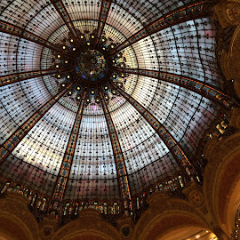 Galeries Lafayette  by Deborah Chew - Buildings & Architecture Other Interior ( Architecture, Ceilings, Ceiling, Buildings, Building )