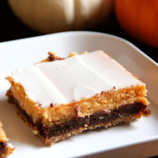 Four Layer Pumpkin Chocolate Cheesecake Bars