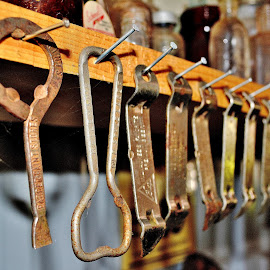 Church Keys by Erin Czech - Artistic Objects Business Objects ( church keys, openers, beer, nails, bottles )