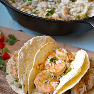 20 Minute Cilantro Lime Shrimp and Rice