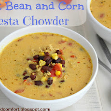 Black Bean and Corn Fiesta Chowder (Throwback Thursdays)