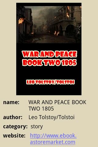 WAR AND PEACE BOOK TWO 1805