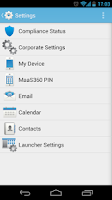 Screenshot of MaaS360 MDM for Samsung