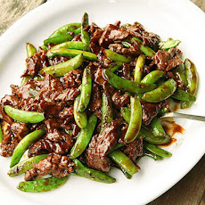 Stir-Fried Beef with Snap Peas and Oyster Sauce