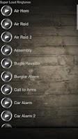 Screenshot of Super Loud Ringtones