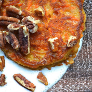 Carrot Cake Pancakes With Sweet Orange Cream