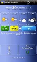 Screenshot of Météo Bordeaux