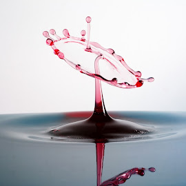 Waterdrop by Cédric Guere - Abstract Water Drops & Splashes ( abstract, water, liquid, waterdrop, colors, art )