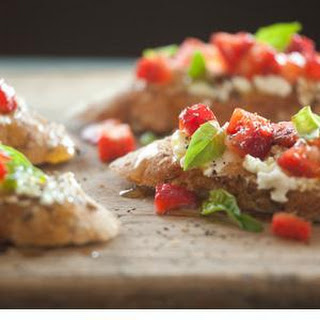 Strawberry and Goat Cheese Bruschetta