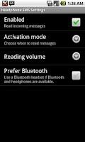 Screenshot of Headphone SMS