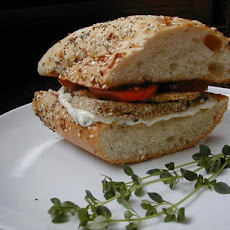 Eggplant (Aubergine) and Tomato Sandwiches