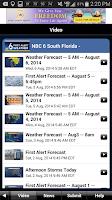 Screenshot of NBC 6 South Florida Weather