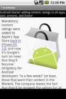 Screenshot of Simple Tech News