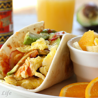 Super Soft California Breakfast Tacos (Mommy's Version)