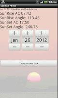 Screenshot of Sunrise Photo