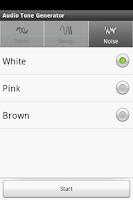 Screenshot of Audio Tone Generator