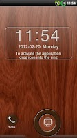Screenshot of GO Locker Mahogany Wood Theme