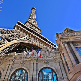 Living Tall in Vegas by Deb Bulger - Buildings & Architecture Public & Historical ( eiffel tower, hdr, exterior, buildings, architecture, vegas )