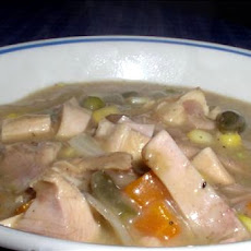 Creamy Crock Pot Turkey Soup