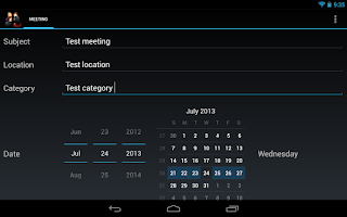 Screenshot of Meeting Minutes Pro