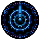 10 Blue Neon Clocks icon