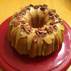 Sweet Potato Pound Cake with Praline Glaze