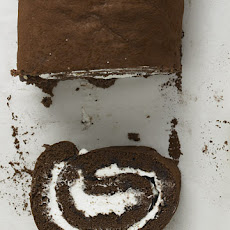 Chocolate-Rum Swiss Roll