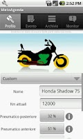 Screenshot of MotoAgenda