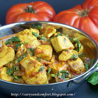 Chicken, Spinach and Tomato Curry