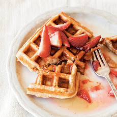 Whole-Wheat Waffles with Honeyed Strawberries