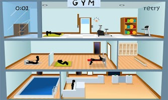 Screenshot of Stickman Click death GYM