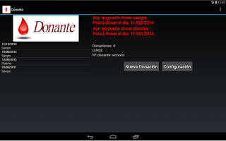 Screenshot of Donante