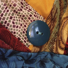 Reflection On The Button by Jane Jenkins - Artistic Objects Other Objects ( abstract, patterns, details, button, photo stream, quilted piece )
