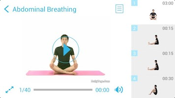 Screenshot of Seated Yoga Routine