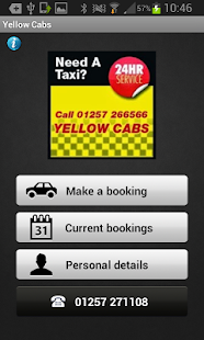 Yellow Cabs Chorley - screenshot