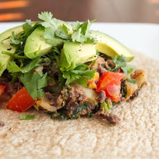 Spicy Potato 'n Black Bean Burritos