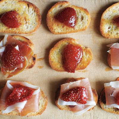 Preserved Strawberries and Jamón Serrano on Little Toasts from 'Canal House Cooks Every Day'