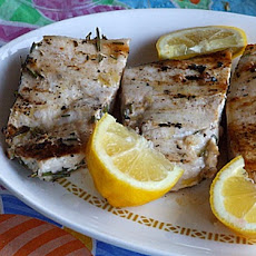 Grilled Swordfish w/ Rosemary