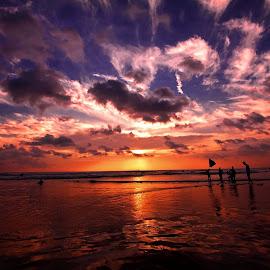 KUTA - BALI 1 by Rientje Maya - Landscapes Sunsets & Sunrises