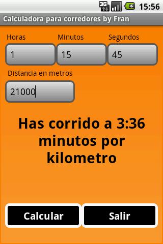 Calculadora para corredores