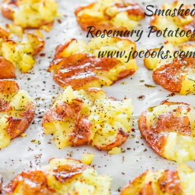 Smashed Rosemary Potatoes