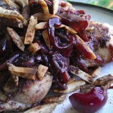 Paleo Tarragon Shallot Cherry Chicken