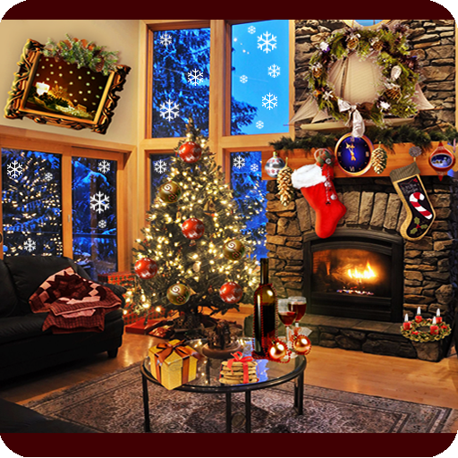 christmas fireplace lwp full download apk from personalization