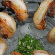 Grilled Prawns With Cilantro and Ginger Sauce