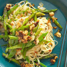 Spring Noodle Stir-Fry with Asparagus and Walnuts