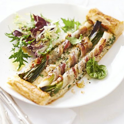Crab, Spring Onion & Pancetta Slice