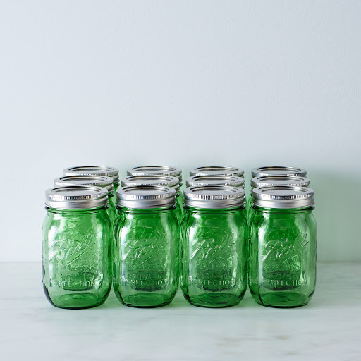Green Ball American Heritage Collection Pint Mason Jars (Set of 12)