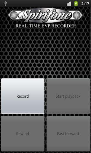 Spirifone REAL-TIME EVP RECORD - screenshot